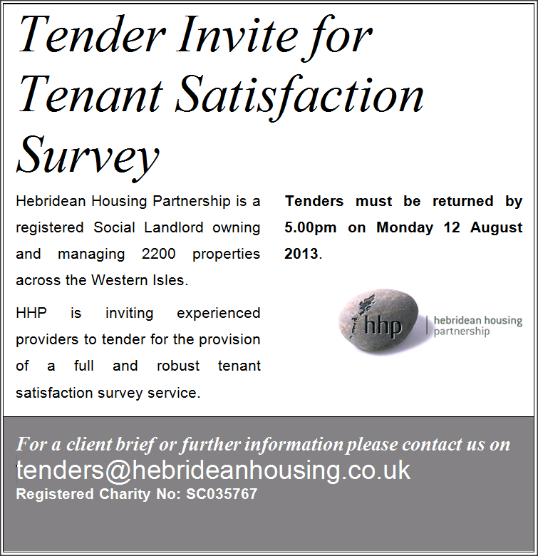 Invitation to tender tenant satisfaction survey tenant satisfaction survey stopboris